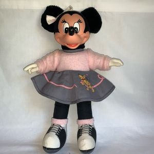 Disney Applause Vintage Minnie Mouse Sock Hop Doll